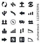 set of vector isolated black... | Shutterstock .eps vector #1120925096