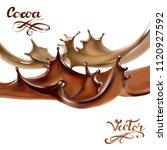 liquid chocolate  caramel or... | Shutterstock .eps vector #1120927592