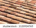 a tiled roof pattern | Shutterstock . vector #1120934765