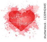 heart silhouette on abstract... | Shutterstock .eps vector #1120942445