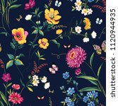 seamless floral pattern in... | Shutterstock .eps vector #1120944935