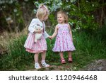 girls are walking in the fresh... | Shutterstock . vector #1120946468