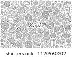line art vector hand drawn... | Shutterstock .eps vector #1120960202