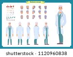 doctor elderly man character... | Shutterstock .eps vector #1120960838
