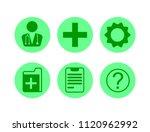 Set Of Green Round Medical...
