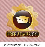 gold shiny emblem with... | Shutterstock .eps vector #1120969892