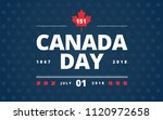canada day blue background  ... | Shutterstock .eps vector #1120972658