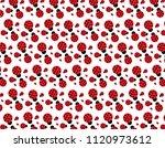 Ladybugs Pattern Background