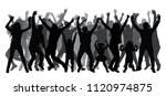 crowd of people applauding ... | Shutterstock .eps vector #1120974875