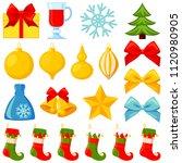colorful cartoon 20 xmas...   Shutterstock .eps vector #1120980905