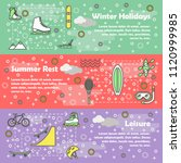 leisure activity vector banner...   Shutterstock .eps vector #1120999985