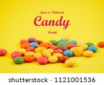 national candy month... | Shutterstock . vector #1121001536