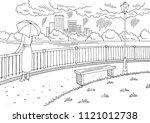 city river graphic black white... | Shutterstock .eps vector #1121012738