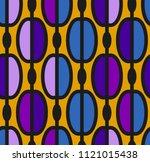 trendy seamless pattern in... | Shutterstock .eps vector #1121015438
