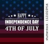 shiny american national flag....   Shutterstock .eps vector #1121023916