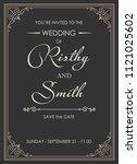wedding invitations flourishes...   Shutterstock .eps vector #1121025602