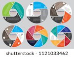 diagram vector for presentation ... | Shutterstock .eps vector #1121033462