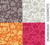 seamless floral pattern... | Shutterstock .eps vector #1121034272