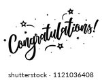 congratulations. beautiful... | Shutterstock .eps vector #1121036408
