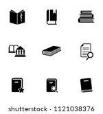 library books icons set  ... | Shutterstock .eps vector #1121038376