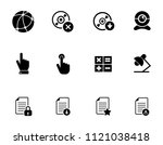 vector computer network set.... | Shutterstock .eps vector #1121038418