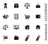 vector shopping   commerce... | Shutterstock .eps vector #1121038445
