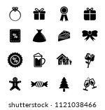 vector merry christmas... | Shutterstock .eps vector #1121038466