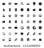 web icons set for computer.... | Shutterstock .eps vector #1121038502