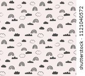 doodle vector pattern with... | Shutterstock .eps vector #1121040572