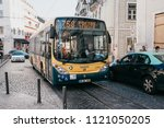 lisbon  june 18  2018  the bus... | Shutterstock . vector #1121050205