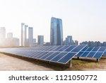 the combination of modern urban ... | Shutterstock . vector #1121050772
