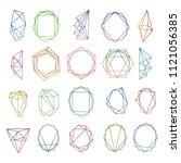 crystal frames. modern... | Shutterstock .eps vector #1121056385