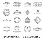 set of vector eco elements. go... | Shutterstock .eps vector #1121060852