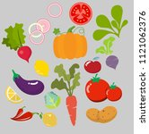 collection of vegetables...   Shutterstock .eps vector #1121062376