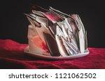 an elegant triple layer... | Shutterstock . vector #1121062502