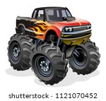 Stock vector cartoon monster truck available eps separated by groups and layers with transparency effects 1121070452