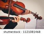 in violin practice class two...   Shutterstock . vector #1121081468