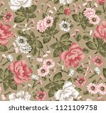 seamless pattern. beautiful... | Shutterstock .eps vector #1121109758