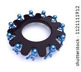 partnership gear wheel teamwork ... | Shutterstock . vector #1121111912
