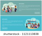 refugees collection web pages... | Shutterstock .eps vector #1121113838