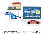 concept illustration of man... | Shutterstock .eps vector #1121116352