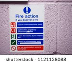 health and safety fire action... | Shutterstock . vector #1121128088