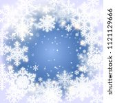 snowflakes. christmas and new... | Shutterstock . vector #1121129666