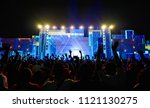 front stage of music concert ...   Shutterstock . vector #1121130275
