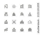 construction icons. set of ... | Shutterstock .eps vector #1121131355