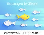 courage to be different  risk... | Shutterstock .eps vector #1121150858