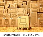 shopping  purchase and delivery ... | Shutterstock . vector #1121159198