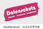 brushstroke german data... | Shutterstock .eps vector #1121159558