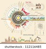 infographics industrial... | Shutterstock .eps vector #112116485