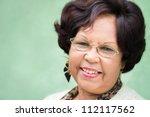 portrait of happy old african... | Shutterstock . vector #112117562